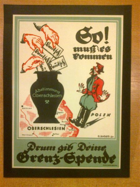 Plebiscyt Górny śląsk Ulotka Plakat Propagandowy
